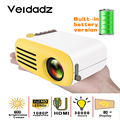 VEIDADZ YG200 LED Projetor Built-In Battery Version HDMI USB Mini Home Media Support 1080P HD Video Player