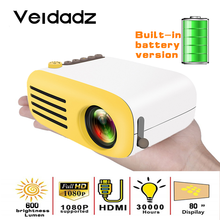 VEIDADZ YG200 LED Projetor Built-In Battery Version HDMI USB Mini Home Media Support 1080P HD Video Player