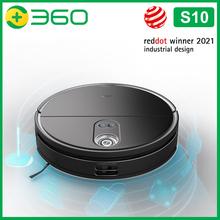 360 Botslab Robot odkurzacz S10 Triple-eye LiDAR 3300Pa silne ssanie 3D mapowanie 520ml zbiornik na wodę 5000mAh PK Xiaomi iLife tanie tanio CN (pochodzenie) 21-30 w 14 4 V Funkcja zamiatania i ssąca 0 5 L Pojemnik na kurz 2 godzin i 30 minut hours-2 Bezworkowy