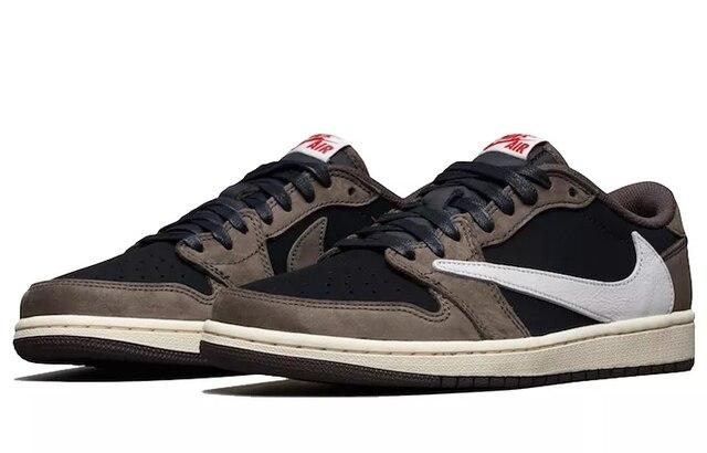Nike-zapatillas Nike Air Jordan 1 Low OG TS SP para hombre, calzado deportivo para exteriores, para correr, con LOGO inverti