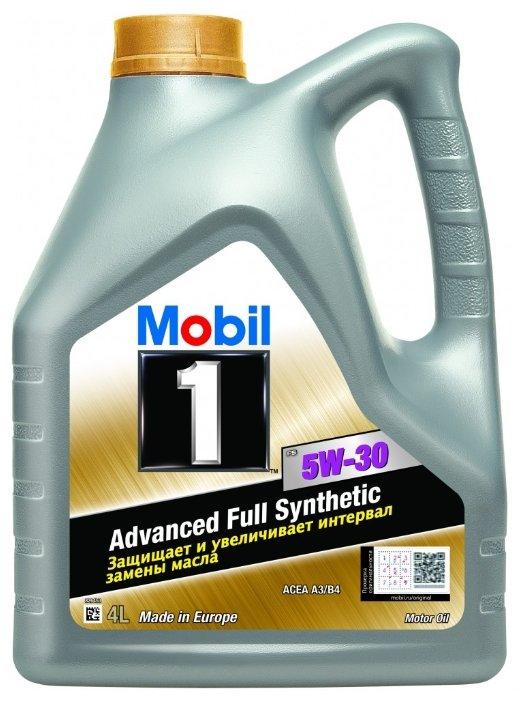 Масло моторное Mobil 1 FS 5W30 синтетическое 4 л 153750