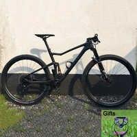 Cadre de VTT à suspension complète TRIFOX 29er 27.5er vtt cadre en carbone suspenion cadre en carbone T800 Boost 148*12 cadre de vélo