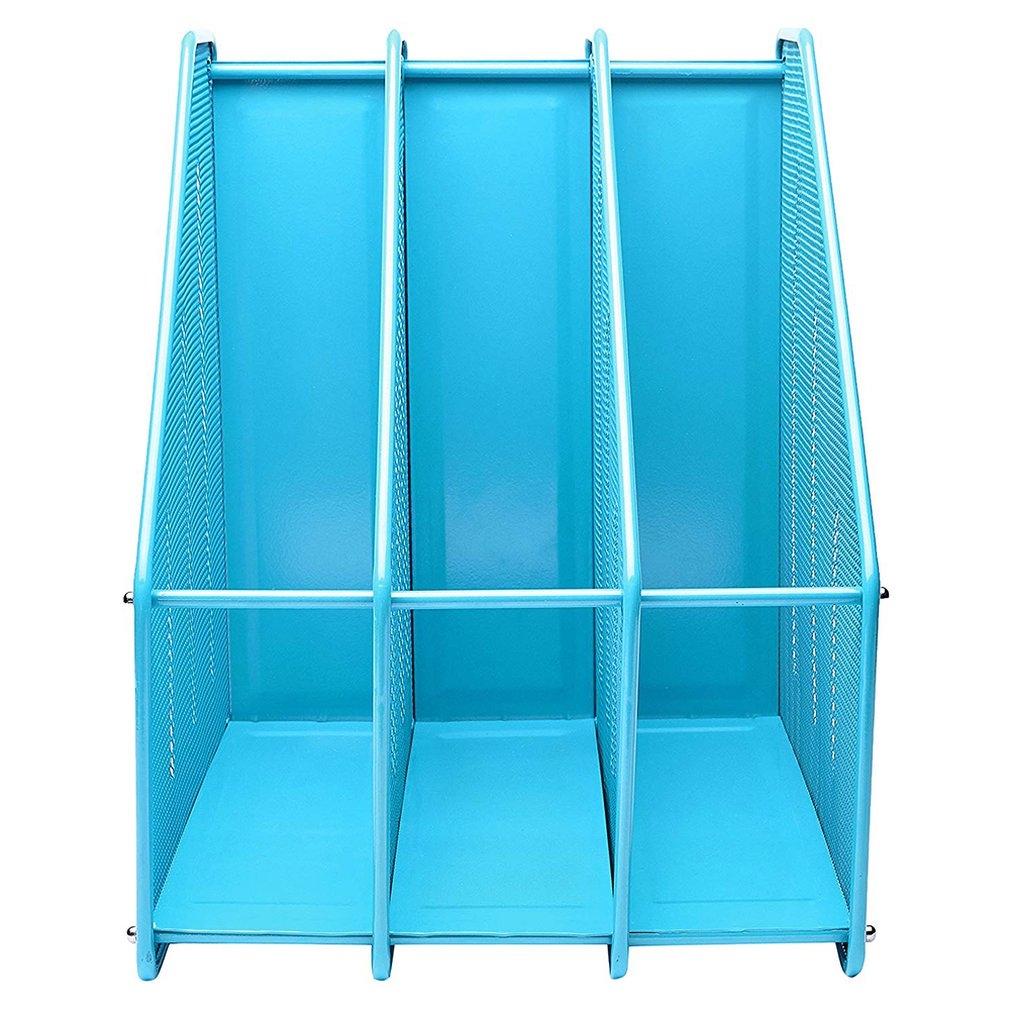 Office Supplies Metal Wire Mesh Triple File Holder File Tray Book File Information Frame Office File Storage Rack