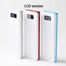 5V 2A 2.1A 10*18650 Mobiele Power Bank Diy Kits 3 Usb Power Bank Charger Printplaat Module + 10S Batterij Shell Case