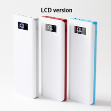 5V 2A 2.1A 10*18650 Mobile Power Bank DIY Kits 3 USB Power Bank Charger Circuit Board Module + 10S Battery Shell Case