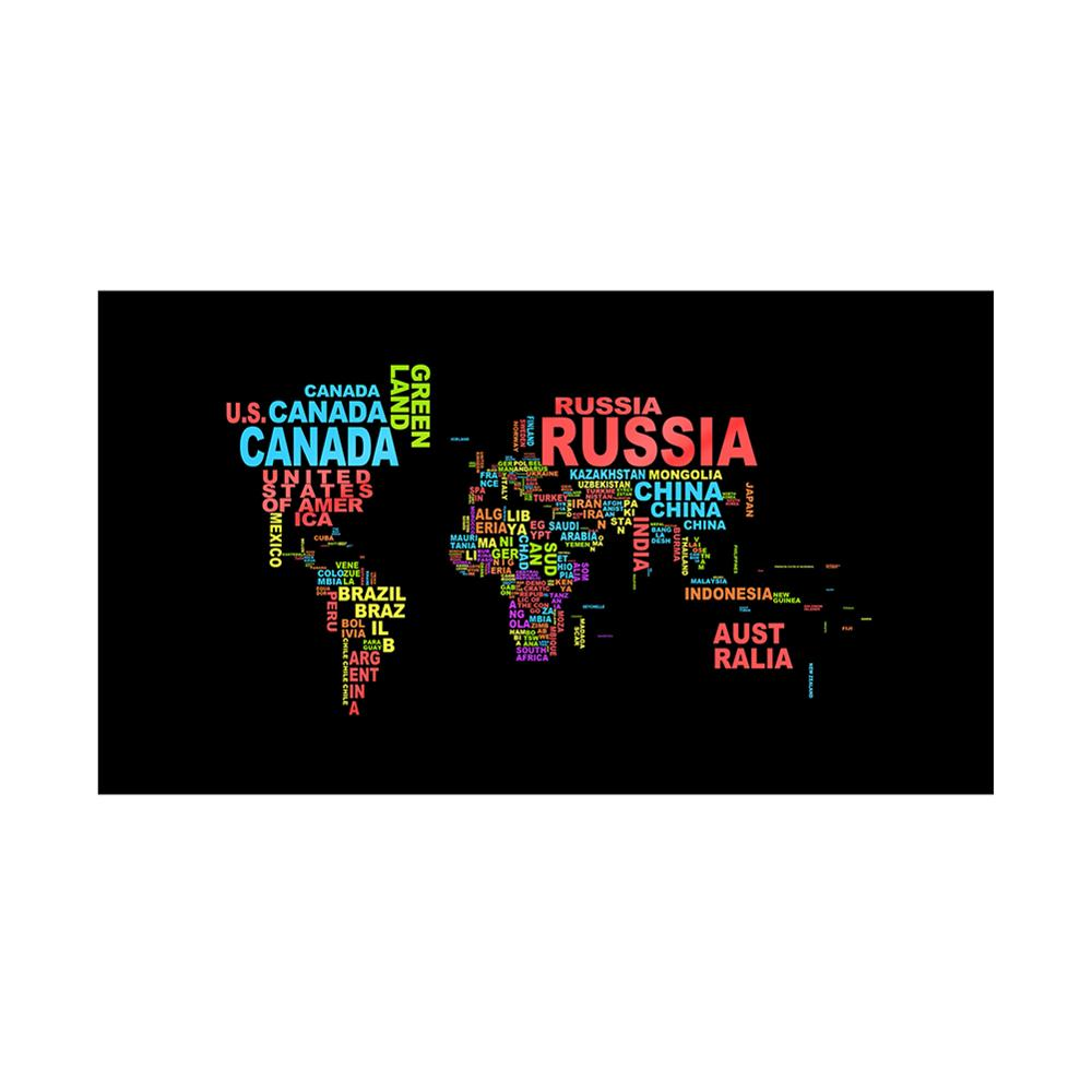 150x100cm Non-woven DIY World Map Plate Pattern Made With Country Names For Home And Office Decor