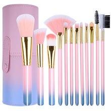 7 12 24 Women Makeup Brush Set Storage Tools Beginners Full Blush Eye Shadow Lady Tool