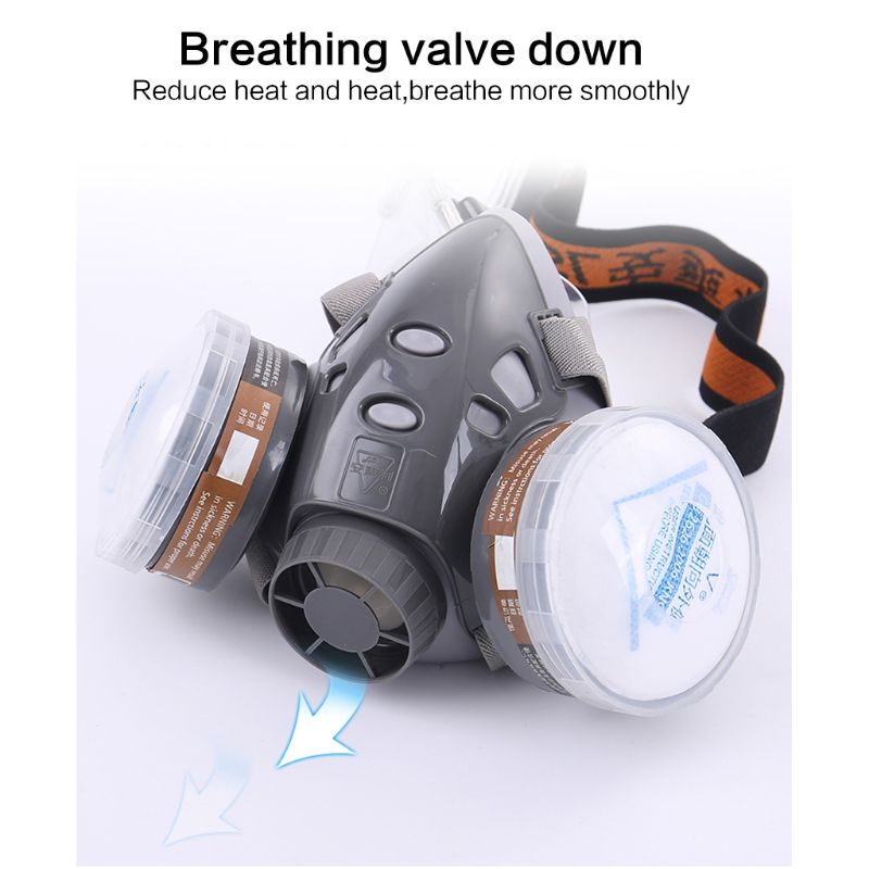 H88a18f2c10e449a89f4271028ebb228bB Full Facemask Respirator Gas Mask Filter Dust Protective Facepiece Mask For Paint Spraying M26 20 Dropship
