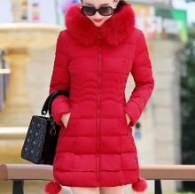 RICORITฤดูหนาวเสื้อขนสัตว์Hooded Thicken Coatผู้หญิงParkaแจ็คเก็ตหญิงผ้าฝ้ายเบาะFaux FurยาวPlusขนาดOuterwear