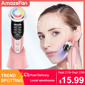 7in1RF&EMS Radio Mesotherapy Electroporation rf lifting Beauty LED Photon Face Skin Rejuvenation Remover Wrinkle Radio Frequency beauty star ems v face massager body slimming beauty instrument microcurrent mesotherapy electroporation wrinkle remover salon