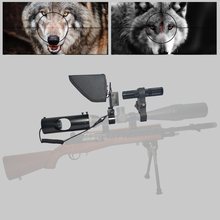Hot 2020 New Update LCD monitor telescope binoculars Sight Tactical Riflescope Infrared night vision with Sunshade
