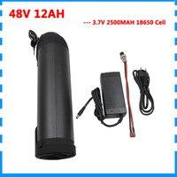 48volt 750W elektrische fahrrad batterie 48 V 12AH lithium-batterie 48 V 12AH wasser flasche batterien für e bike 20A BMS 2A Ladegerät
