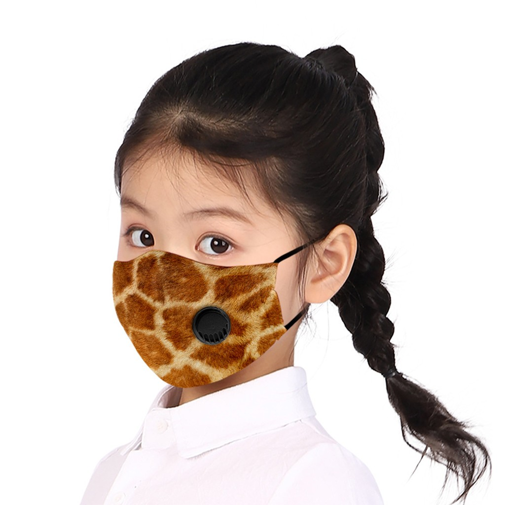 In Stock Children Kids Print Adjustable Breathable Valve Safe FaceCover Mascarillas Mascara Mondkapje Camping Maska Mouth-muffle