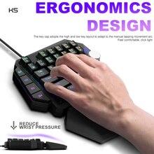 RGB one-hand mechanical keyboard PC console PS4 Throne mini game keyboard Multifunctional Ergonomics Backlight mini keyboard