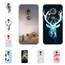 For Motorola Moto E5 Case Soft TPU Silicone For Motorola Moto G6 Play Cover Deer Patterned For Motorola Moto E 5th Gen. Capa Bag abs pvc motorcycle mount holder water resistant bag for motorola moto x black