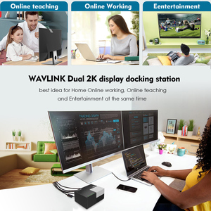 Image 2 - Wavlink 9 Poorten Universele Usb 3.0 Docking Station Dual Video Display 4 Gb Dvi Hdmi Vga Usb Hub Gigabit Lan poort Werken Online