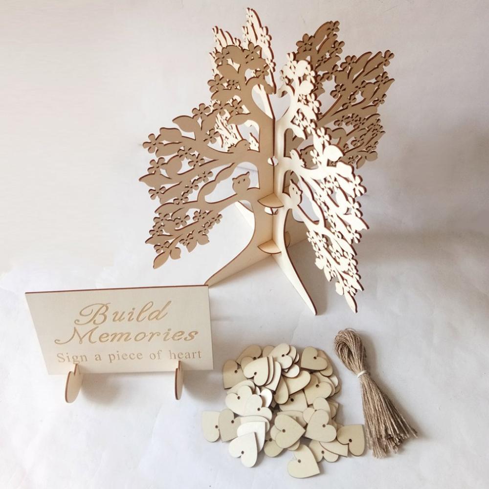 Wooden Wedding Supplies Wedding Wishing Tree Signing Table Wedding Table Decorations Wooden Wedding Romantic Love Signs