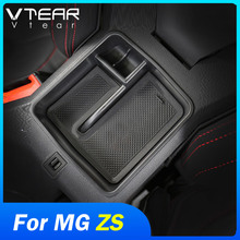 Vtear For MG ZS storage box container holder accessories center console central armrest clapboard insert stowing tidying tray