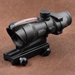 Тактический ACOG Стиль 1x32 Красная точка зрения волоконно-оптический прицел на винтовку для Пикатинни M7262