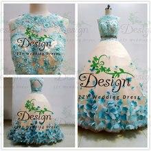 Реальные изображения платье quinceanera из двух частей синее