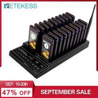 Retekess T112 999 canaux système de mise en file d'attente sans fil téléavertisseur Restaurant 1 transmetteur + 20 téléavertisseurs équipement de Restaurant