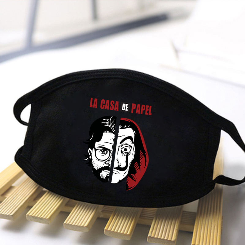 Mens/Women Paper Sand House Washable Breathable Printing Mask Skin-friendly High Quality Masks Spring Autumn Windproof Masks