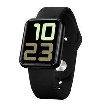 90% fora dos esportes relógio inteligente homem mulher rastreador de fitness monitor de freqüência cardíaca pressão arterial para android apple relógio iphone smartwatch