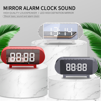 LED TV Sound Alarm Clock Wired Wireless Bluetooth Speaker Home Theater Surround Subwoofer AUX USB For PC TV Computer Speaker image