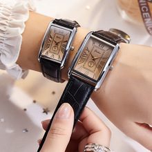 Fashion square couple watch Roman numerals simple style new