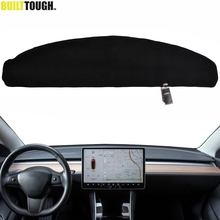 Xukey For Tesla Model3 Model 3 2017   2020 Dashmat Dashboard Cover Dash Mat Pad Sun Shade Dash Board Cover Carpet 2018 2019