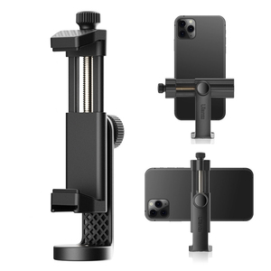 Ulanzi ST-17 Smartphone Clip Mount Holder 360 Degree Rotation Vertical Shooting Phone Tripod Mount with Cold Shoe 1/4in Screw