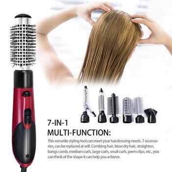 7 in 1 Hair Straightener One Step Hot Air Brush Professional Hair Straightening Curling Brush Multifunctional Hair Care Tools bielita professional hair care
