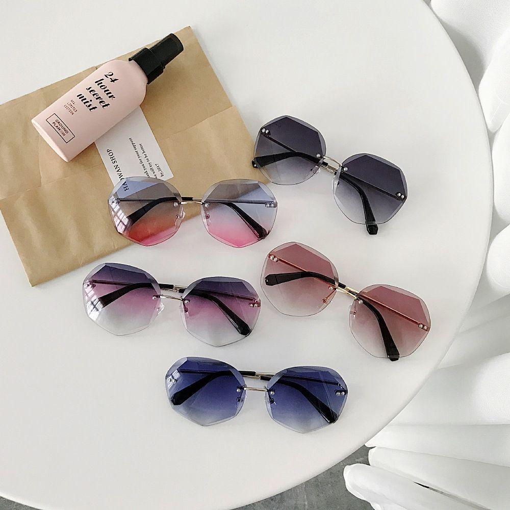 2019 Newest Cool Polygon Shaped Hexagon Fashion Men Women's Ocean Sheet UV Protection Eyewear Sun Glasses UV400