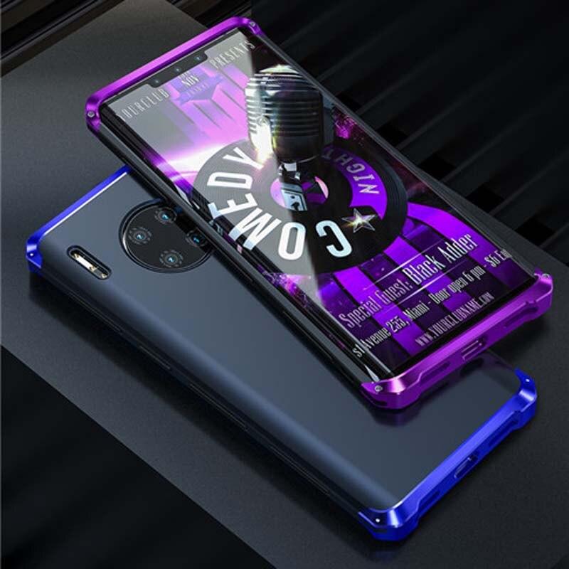 Luxury Case For Huawei Mate20 Mate20pro Mate30 Mate30pro 3 In 1 Aluminum Metal + PC Hard Hybrid Slim Back Cover Case KS0507
