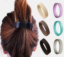 Laço de cabelo de silicone mulher menina rabo de cavalo magia dobrável hairband multifunction scrunchies corda de cabelo acessórios de cabelo corda de cabelo
