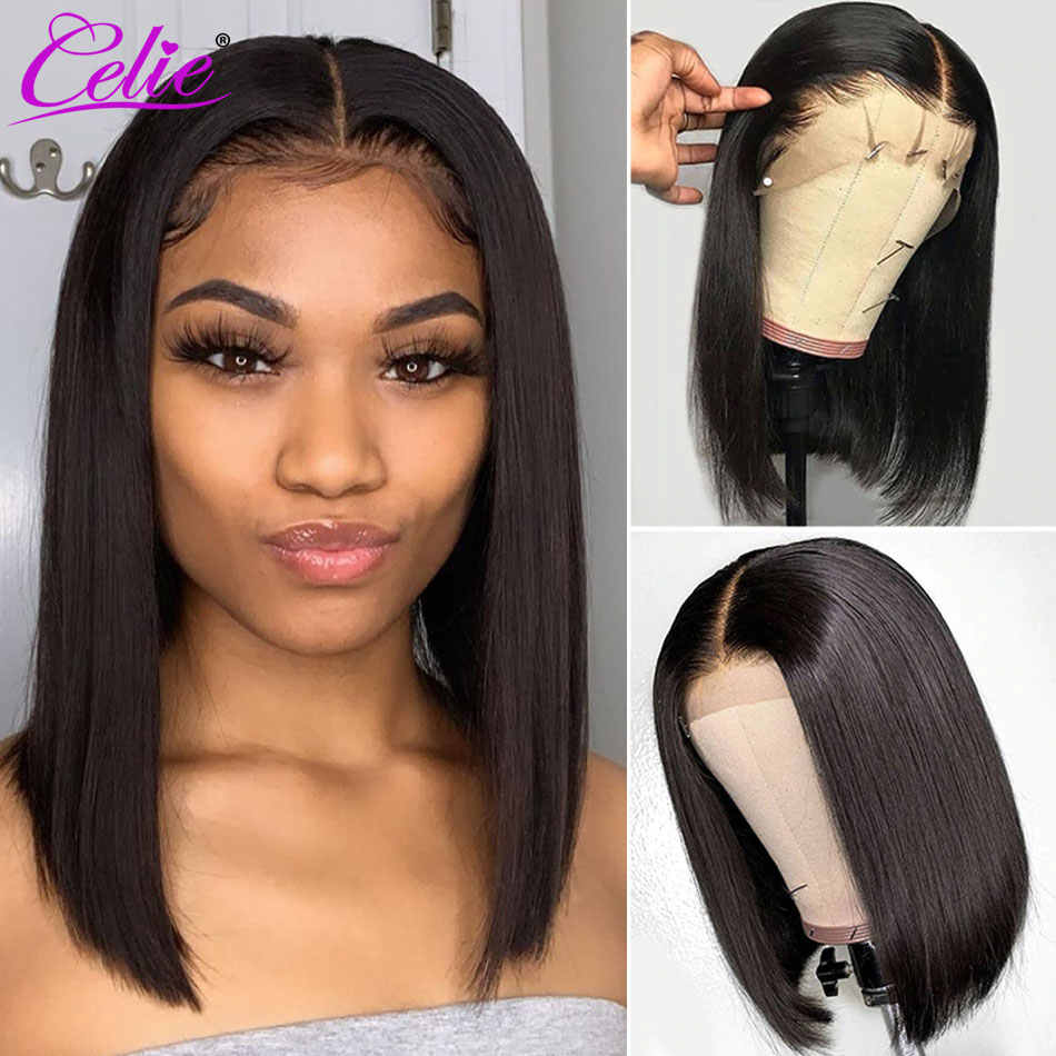 Celie Hair Bob Lace Front Wigs Pre Plucked With Baby Hair Short Human Hair Wigs Lace Front Human Hair Wigs Straight Bob Wig