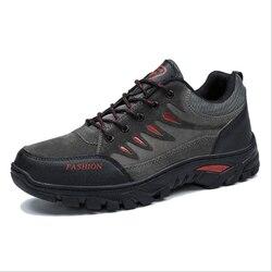 Wysokiej jakości jesienne zimowe męskie trampki buty górskie buty do podróży męskie bawełniane buty solidna gumka do biegania