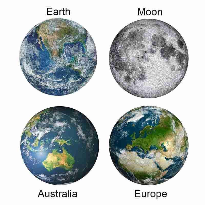 Adult Puzzle 1000 Pieces Earth Moon European Australia Jigsaw Romantic Landscape Puzzle Creative Diy Puzzle Charming Imagine Toy