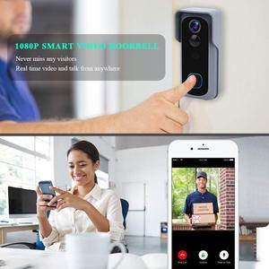 Image 3 - Onvian WiFi kapı zili kamera su geçirmez 1080P HD Video kapı zili hareket dedektörü akıllı kablosuz kapı zili kamera gece görüş ile