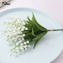 Bouquet Flower Lily Wedding-Decor Valley Artificial Fake Home Meldel 6pcs Plastic Party