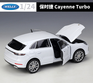 Image 5 - WELLY 1:24 Diecast רכב מתכת פורשה Macan קאיין טורבו צעצוע כלי רכב SUV סגסוגת דגם מכונית צעצוע מכונית לילדים מתנה אוסף