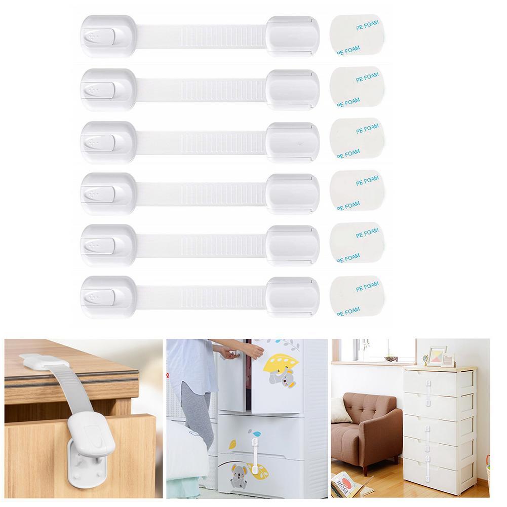 1pcs Child Safety Locks Child Safety Strap Multipurpose Adhesive No Drilling Strap For Fridge Cabinets Drawers Dishwasher Toilet
