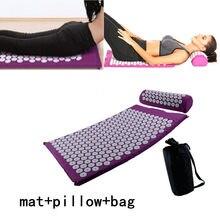 Masaj minderi acupressure masaj Yoga Mat setleri stres rahatlatmak sırt ağrısı akupressur matı/yastık masaj matı gül başak