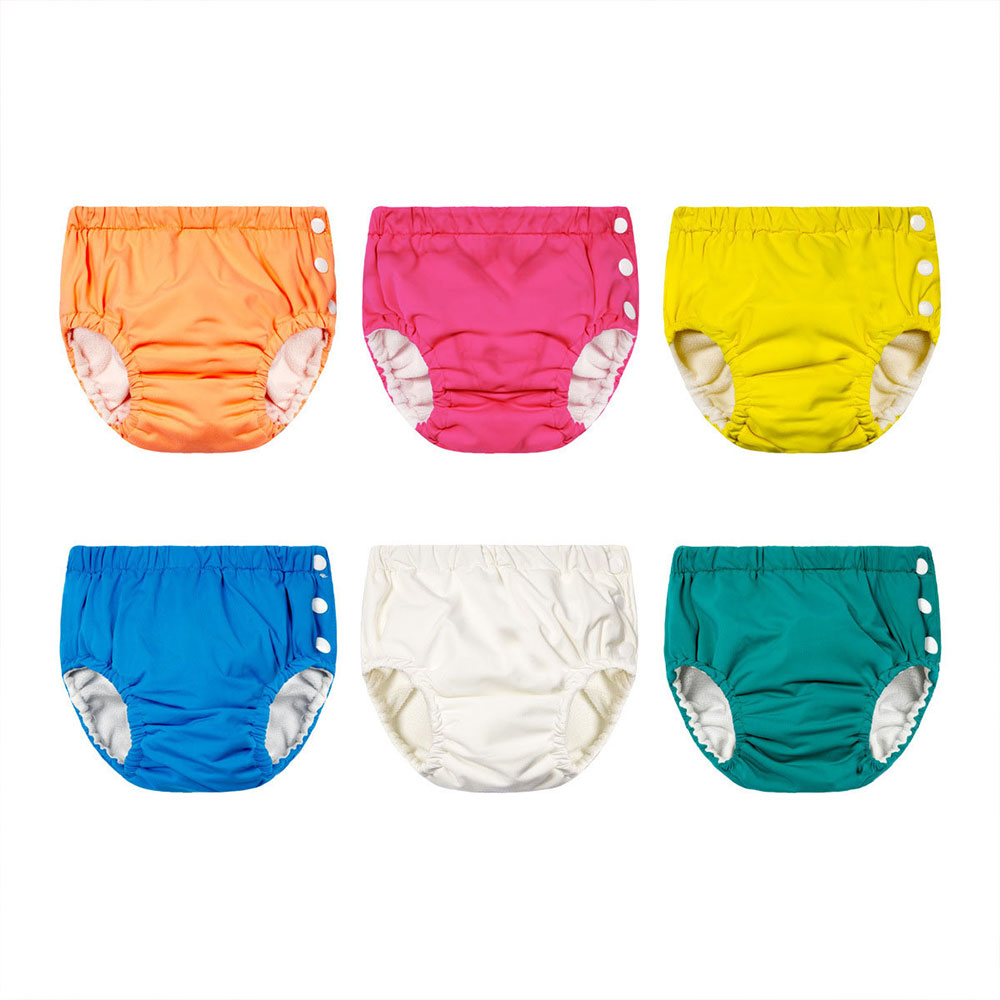 Baby Swim Nappy Diaper Waterproof Swimwear Panties Cloth Nappies Swimming Pool Pants For Infant Toddler Kids Boys Girls