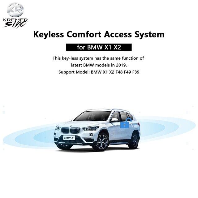 Frete grátis aftermarket keyless conforto acesso para bmw x1 bmw x2 f48 f49 f39
