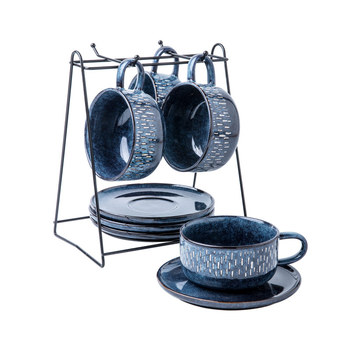 Luxury Ceramic Coffee Cup Set European Holder Modern Reusable Coffee Small Cups And Saucer Taza Desayuno Home Decor OO50BD
