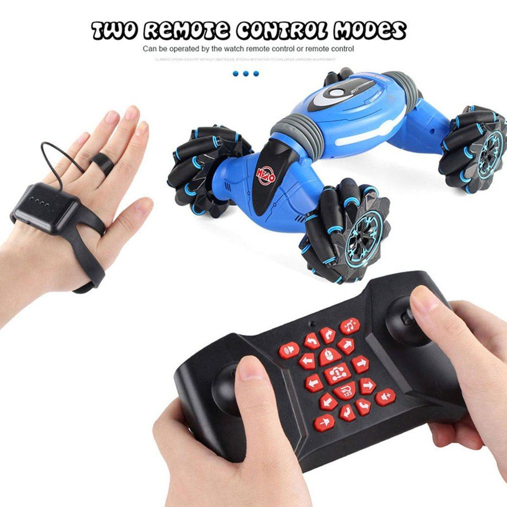 Remote Control Stunt Car Gesture Induction Twisting Car Off-Road Vehicle Light Music Drift Dancing Side Driving Toy Kids Gift