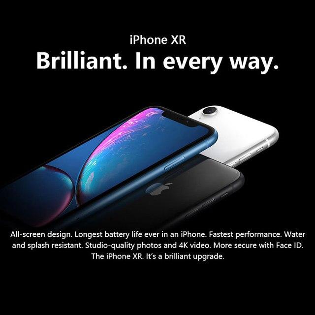 Original Unlocked Apple iPhone XR Mobile Phone 6.1inch LCD Display Hexa Core IOS Fingerprint Face ID NFC Apple Smartphone 2
