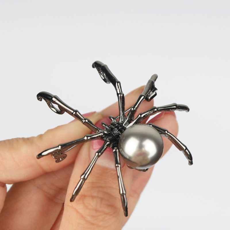 Buran Broche en nacre victorienne et micro pave araign/ée pour femme