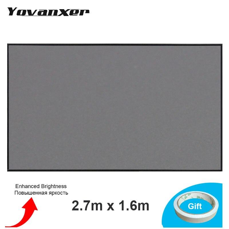 2.7m x 1.6m tela do projetor tela reflexiva tela de projeção de pano para epson sony benq xgimi jmgo projetor alto brilho